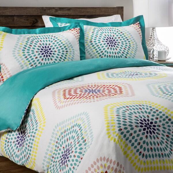 Jovi Home Multi-color Blossoms 3-piece Duvet Cover Set