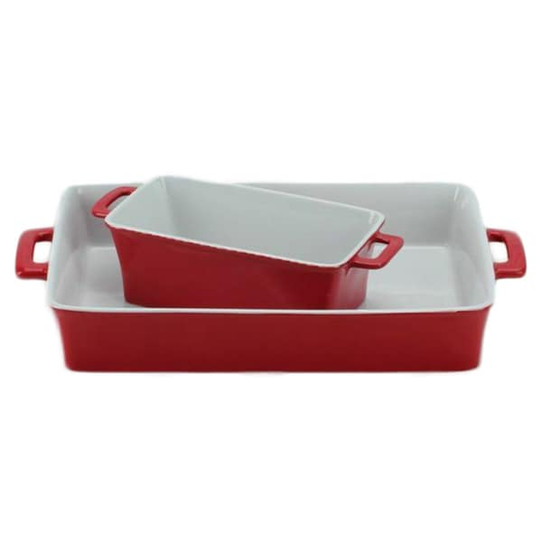OmniWare Red Baking Dish (Set of 2)
