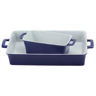 OmniWare Cobalt Blue Baking Dishes (Set of 2)
