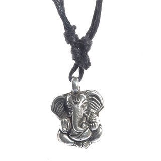 Handcrafted Sterling Silver Ganesha Pendant (Nepal)