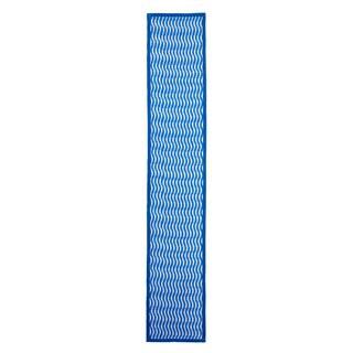 Mela Artisans Cotton Blue Indo Runner Rug (1'1 x 6')