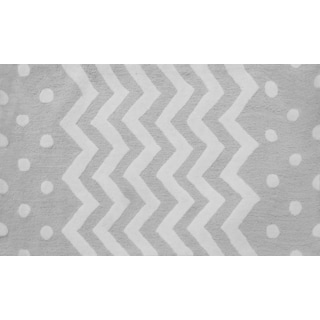 Zigzag Grey Area Rug (4'8 x 7'8)