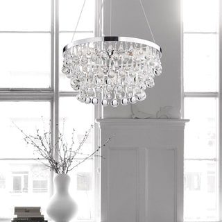 Ofelia Chrome Clear Crystal Droplets Chandelier