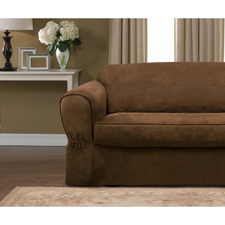 Maytex Faux Suede Two-piece Stretch Slipcover