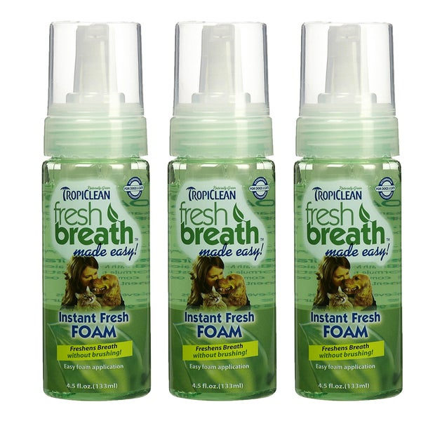 Tropiclean Instant Fresh Foam Dental Foam for Dogs (3 Pack)