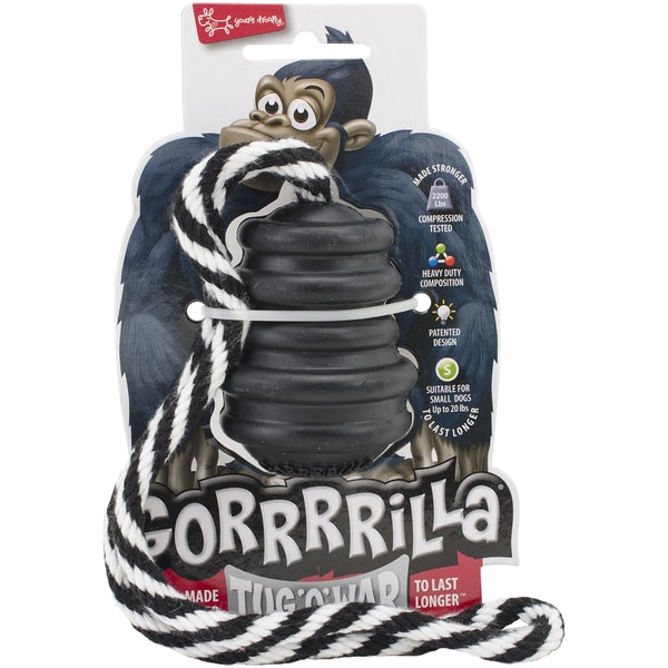 Multipet Gorrrrilla Tough Rubber Toy with Rope 14961287