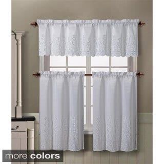 Victoria Classics Aileen 3-piece Kitchen Curtain Set