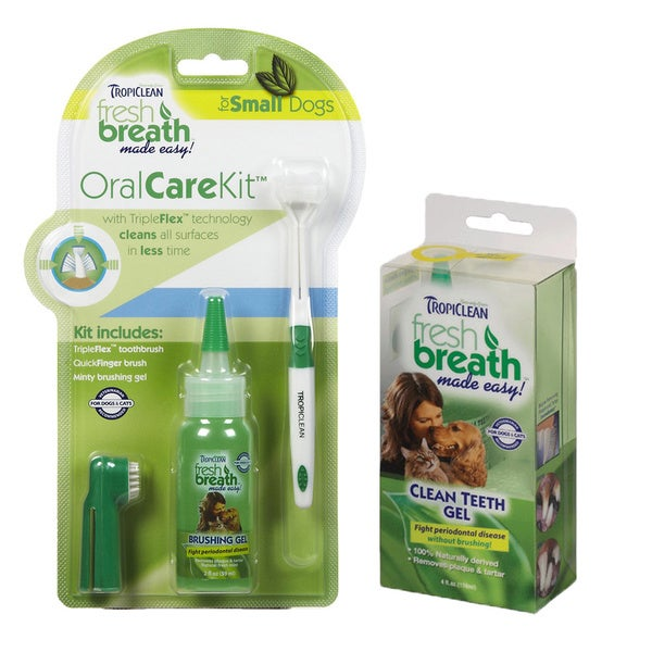 Tropiclean Oral Care Kit for Dogs