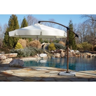 Panama Jack Island Breeze 10-foot Cantilever Umbrella with Stone Base