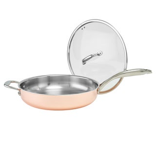 Old Dutch Copper Tri-Ply Professional 12-inch Covered Deep Skillet