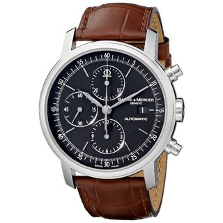 Baume & Mercier Men's MOA08589 Classima Executive Brown Leather Watch