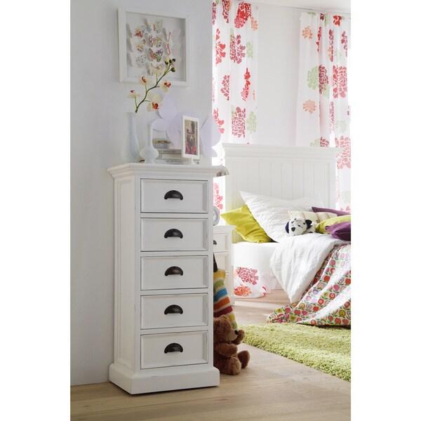NovaSolo White Mahogany 5-drawer Storage Unit