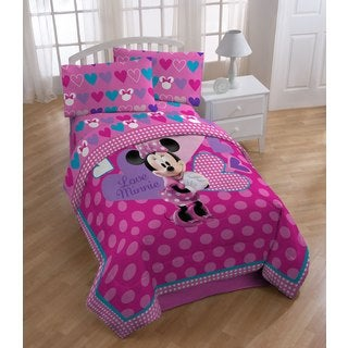 Minnie Bowtique Comforter, Sheet Set and Pillowcase