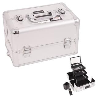 Sunrise Silver Dot Interchangeable 3-tier Extendable Tray Makeup Case