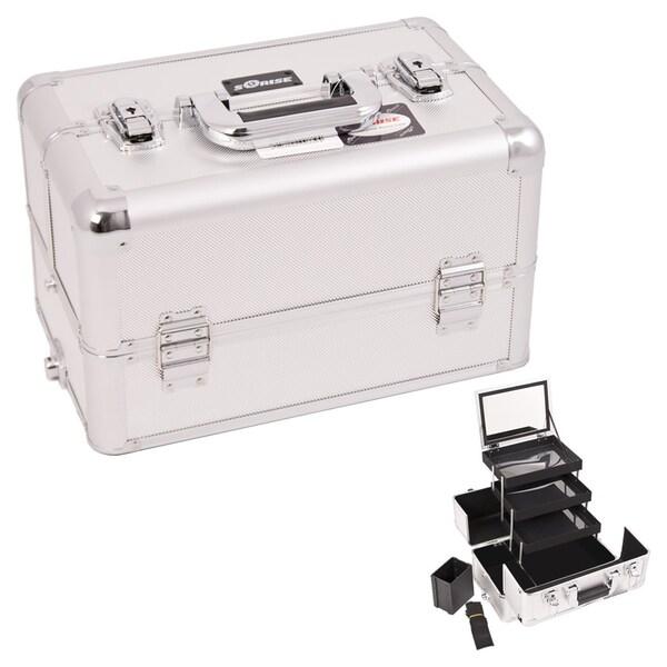 Sunrise Silver Dot Interchangeable 3-tier Extendable Tray Makeup Case 14961534