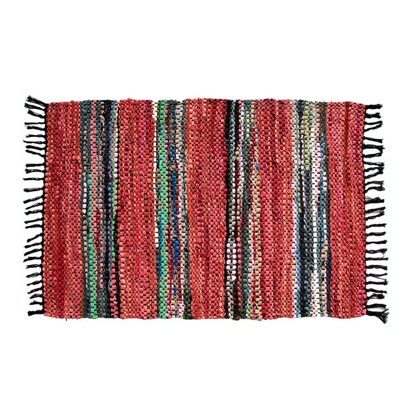 Red Broadway Collection Reversible Rug (3.5' x 5.6')