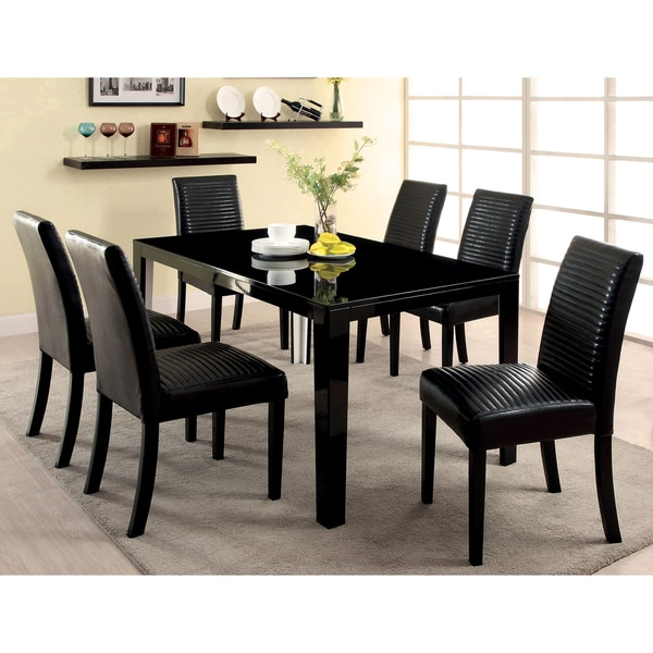 Furniture of America Rosanna High Gloss Dining Table