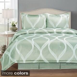 Wave Pattern 4-piece Comforter Set