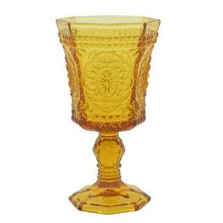 Vatican 8-ounce Amber Goblet (Set of 6)
