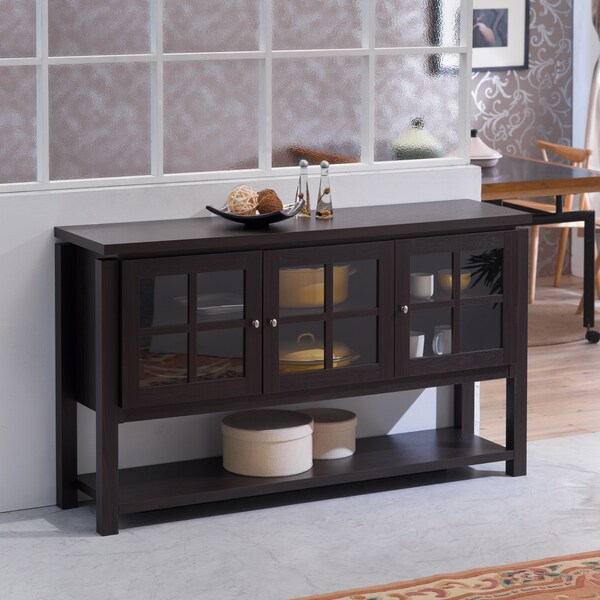 Kitchen Buffet Table : Furniture of America Wilbur Contemporary Walnut Buffet Table ...