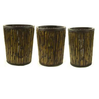 Wood Baskets (Set of 3)