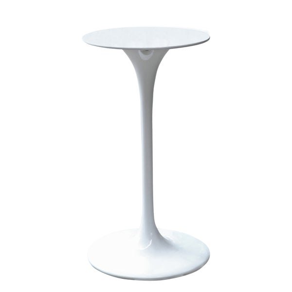 White Flower Bar Table