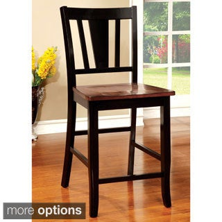Furniture of America Betsy Jane Country Style 2-Tone Counter Height Dining Chair (Set of 2)