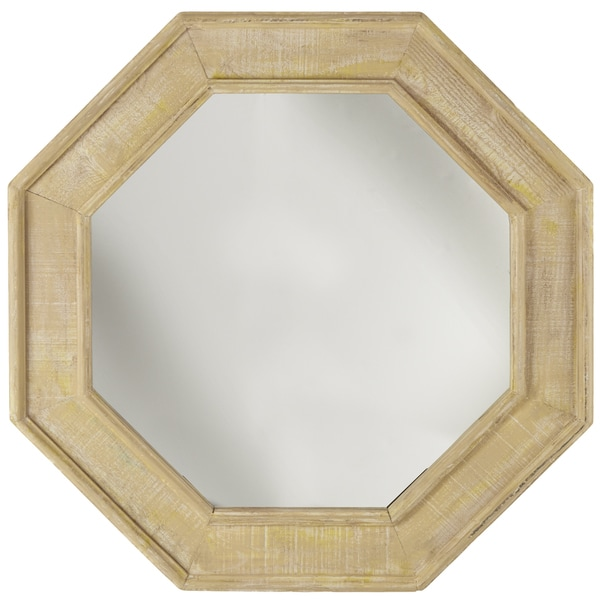 Octagonal Driftwood Wall Mirror
