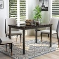 Furniture of America Hartley Black 48-inch Dining Table
