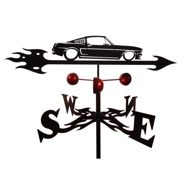 Handmade Ford Mustang Auto Car Steel Weathervane
