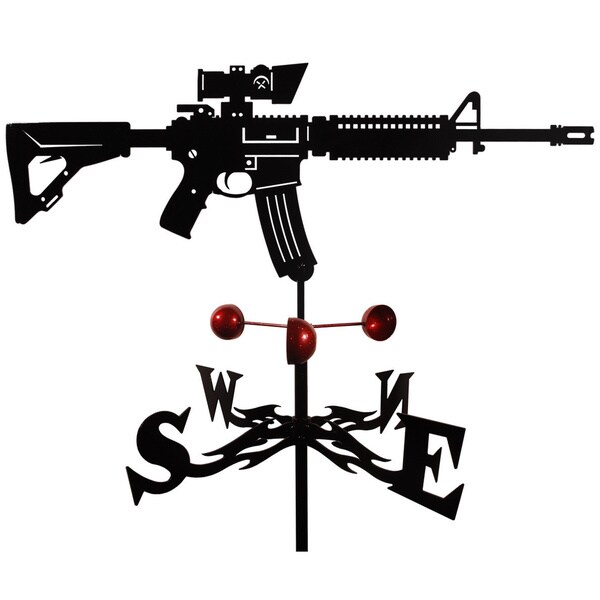 Handmade M4 Carbine Assault Rifle Steel Weathervane