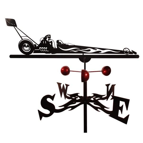 Handmade Dragster Auto Car Racing Steel Weathervane