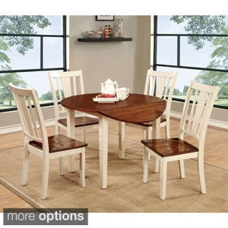 Furniture of America Betsy Jane Country Style Round Dining Table