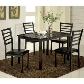 Furniture of America Rath Contemporary Black 5-piece Dining Set