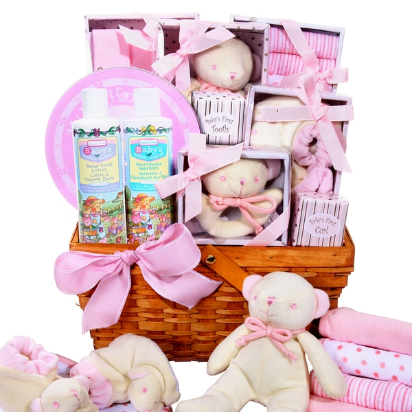 Welcome to the World Baby Girl Basket