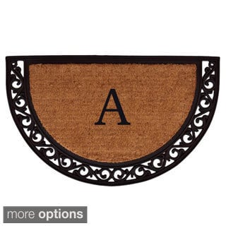 Ornate Scroll Monogram Doormat (2'x3')