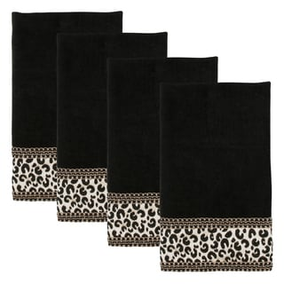 Sherry Kline Cheetah Black 4-piece Hand Towel Set
