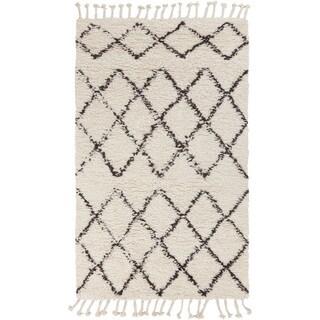 Hand-Woven Flynn Geometric Wool Rug (8' x 10')
