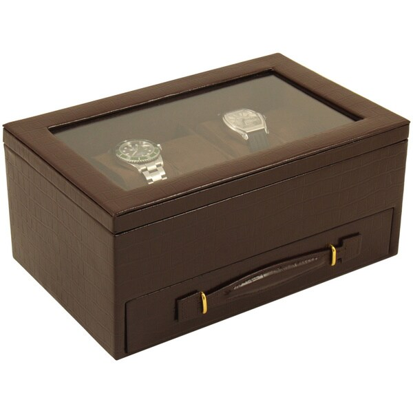 Bey Berk 'Newman' Leather Watch and Accessories Box