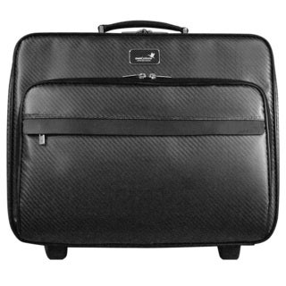 monCarbone Carbon Fiber 15-inch Rolling Carry-on Laptop Tote