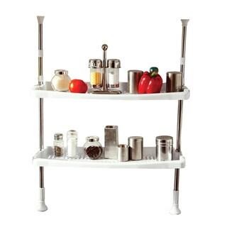 Above Edge 2-shelf Adjustable Spice Rack/ Towel Holder