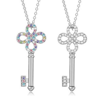 Princess Ice Key To My Heart Crystal Pendant