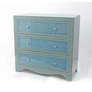 Green 3-drawer Wood Dresser