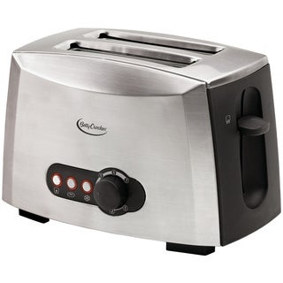 Betty Crocker Brushed Stainless Steel 2-slice Toaster