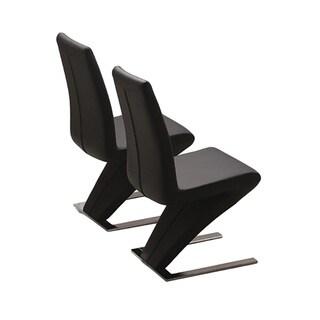 Modrest Zayd Modern Black Dining Chair (Set of 2)