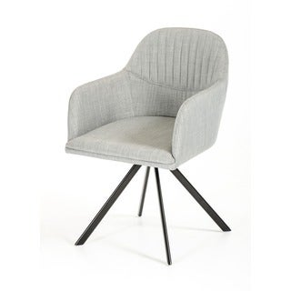 Modrest Synergy Modern Grey Fabric Dining Chair