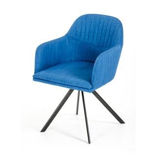 Modrest Synergy Upholstered Modern Blue Dining Arm Chair