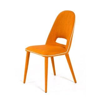Modrest Eugene Modern Orange Fabric Dining Chair (Set of 2)
