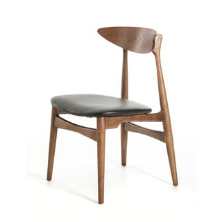 Modrest Anson Modern Walnut and Black Dining Chair (Set of 2)