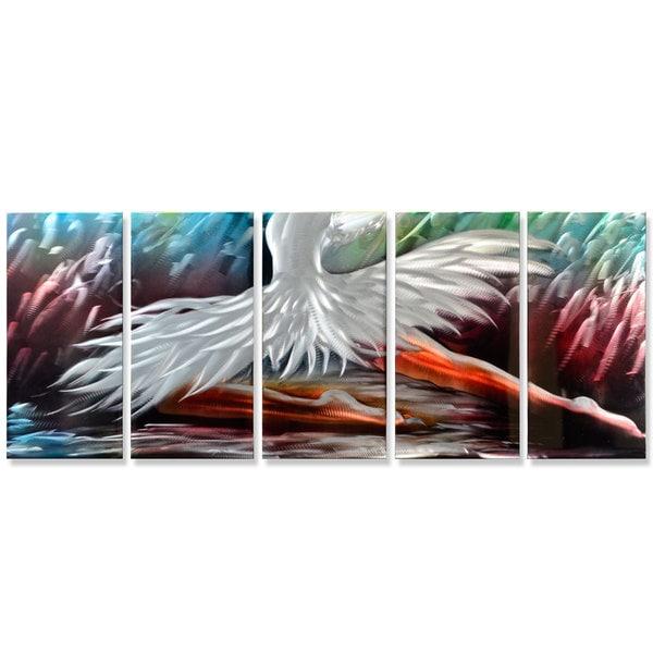 Metal Artscape 'The Swan Princess' Metal Wall Art